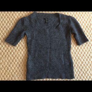 Mango MNG Black Angora blend sweater